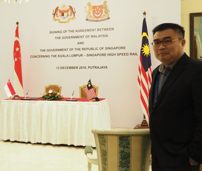 2016-12-13-Mike Chau Attended KL-SG HSR Agreement Signing Ceremony