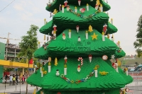Asia's Largest Lego Christmas Tree Lights Up at Legoland Malaysia