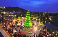 Asia's Largest Lego Christmas Tree Lights Up at Legoland Malaysia
